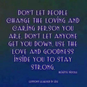 Don't let others bring you down...