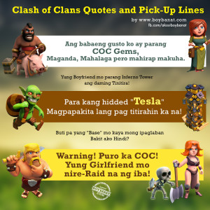 Boy Banat: Clash of Clans (COC) Quotes and Pick-Up Lines