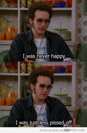 ... show hyde on being happy funny quote from that 70s show by steven hyde