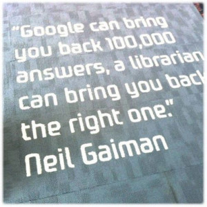 ... Neil Gaiman, library lover and source of the quote. Authors, libraries