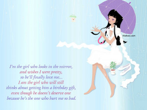 Pretty Lady Quotes I'm the girl who looks in the