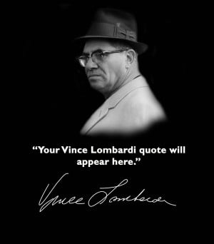 Vince Lombardi Quotes Wallpaper