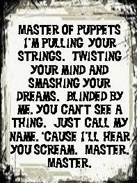 Master of Puppets -Metallica More