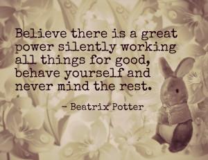 Free Printable Beatrix Potter Peter Rabbit Quote