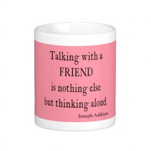 Vintage Bubblegum Pink Addison Friendship Quote Coffee Mug