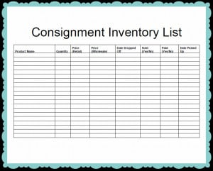 Inventory List Template Review Kaboodle