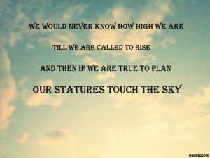 sky quote high clouds - English Literature Competition October 2014