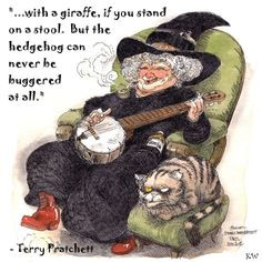 Nanny Ogg. Discworld quote by Sir Terry Pratchett. Artwork by Boulet ...
