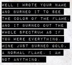 Brand New Lyrics One of my favorites. More