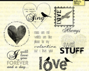 Valentine Sayings - Words of Love - Scrapping Quotes - 7 Digital ...