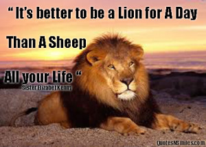 Lion Quotes Strength Lion-for-a-day-bravery-picture