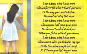 Missing My Ex Boyfriend Poems