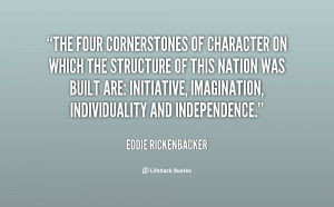 The four cornerstones of character on which the structure of this ...
