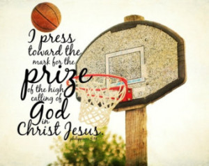 Sports Christian quote Basketball Bible verse Athletic Scripture art ...