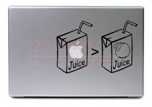 Home / Macbook - Apple Juice is greater than Orange Juice - cute funny ...