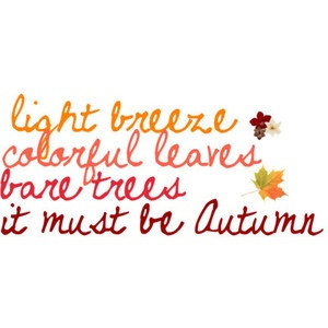 QUOTES: Light breeze, colorful leaves
