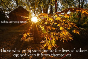 Life Sunshine Inspirational Quotes About Love Happiness