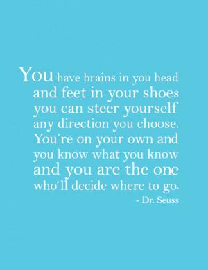 Dr. Seuss Quote Poster   Boise Graphic Designer