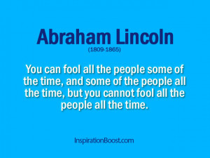Fool Quotes – Abraham Lincoln