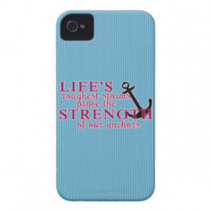 Anchor Strength Quote Case-Mate iPhone 4 Case