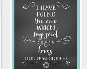 Song of Solomon 3:4 Bible verse pri nt - Digital Files (PDF, JPG) ...