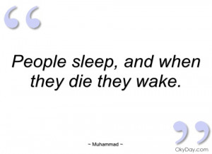 people sleep muhammad