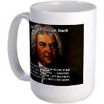 Composer J.S. Bach Large Coffee Cup