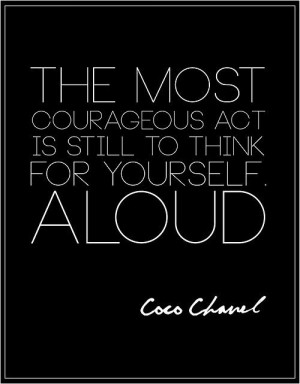 Coco knows best #chanel #quote