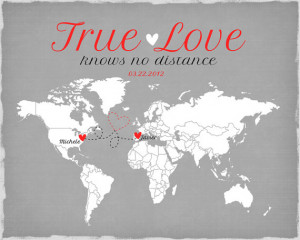 Long Distance Relationship, Valentines Day Gift - Art Print, Living ...