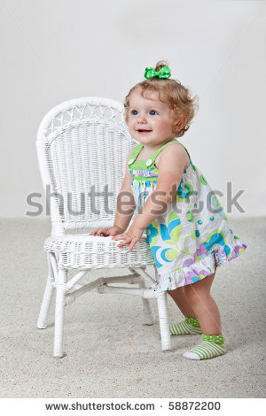 One Year Old Baby Standing