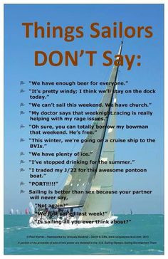Sailors DON'T say . . . More