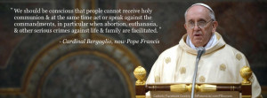 Pope Francis Facebook Cover Image - Communion Quote