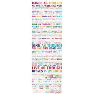 ... Door Poster 53x158cm Inspirational Quotes Motivational Life Print Gift