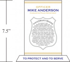 personalized rendition of the Police Officer's Prayer.