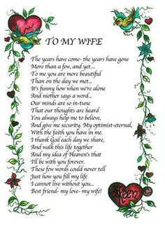 Are wife you poem my I Miss