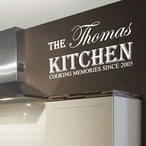 about Personalized Kitchen Name Art Wall Sticker Quotes, Wall Decals ...