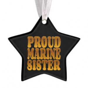 Marine Quote Christmas Ornaments