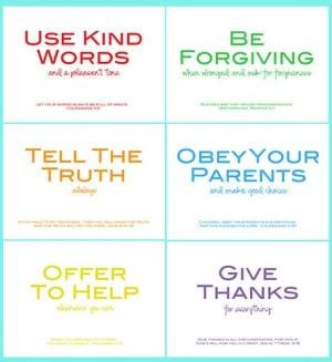 family rules printable w/ Bible verses by PerfectSentiment on Etsy by ...