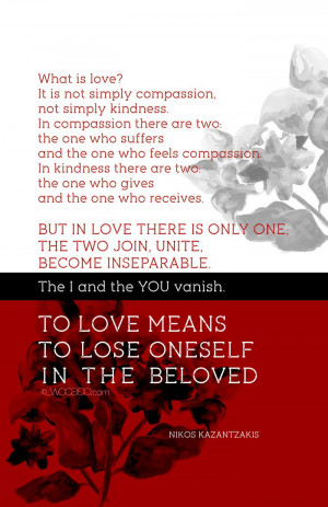 What is Love - Nikos Kazantzakis Quote Poster by WOCADO