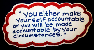 accountability quote, Julette Millien