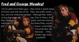 Fred and George Weasley Quotes