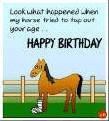 Funny Birthday Clip Art | Funny Birthday Card - Clip art Horse Play ...