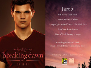 Jacob Black breaking dawn part 1