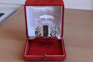 Omega Jeux d'Argent Bracelet watch very rare solid silver / de ville ...