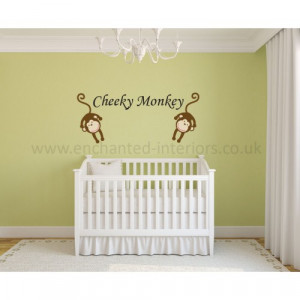 Cheeky Monkey Nursery Wall Stickers Quote