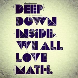 math quote love deepdown