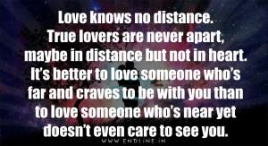 Love knows no distance...