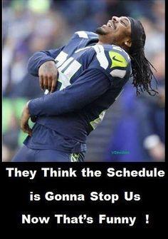 ... funny!! Seahawks Marshawn Lynch thinks it's hilarious!! So do I!! Lol