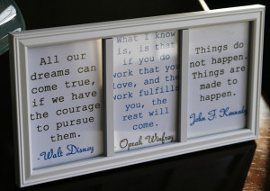 DIY Inspiration Frame with Motivational Quotes