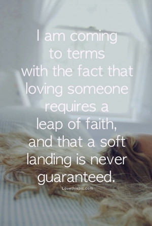 love it love is a leap of faith